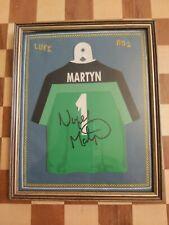 More details for vintage 1996-2003 framed nigel martyn signed autograph display leeds united f.c