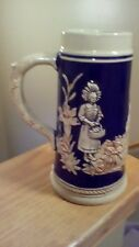 "German Beer Stein Marked M R Marzi & Remy made in Germany 7 1/2"" Tall tankard"