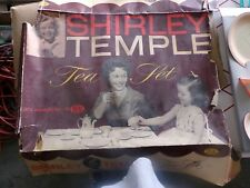 VINTAGE SHIRLEY TEMPLE TEA SET IT'S A WONDERFUL TOY ...IT'S IDEA WITH BOX