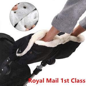 Baby Pram Stroller Hand Muff Waterproof Fingerless Gloves Warmer Jogger Winter