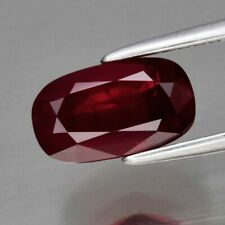 GRA CERTIFICATE Incl.*2.01ct 8.8x5mm Cushion Natural Unheated Untreated Red Ruby