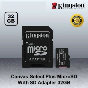 Kingston Micro SD Card Memory SDHC Class 10 32GB With Adapter