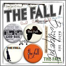THE FALL ① Mark E Smith Post Punk John Peel Beggars Manchester Badge Set x4