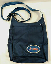 NEW ATLANTA BRAVES MLB Baseball Team MVFan Navy BLUE Crossbody Handbag PURSE