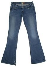Hollister Distressed Flare Jeans Size 3 Junior Womens 30x34 Low Rise Cotton