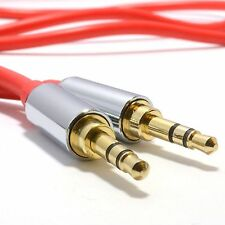 PRO RED 3.5mm Jack Male to Male Stereo Audio Cable Lead GOLD 1.5m Meter