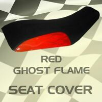 Yamaha Raptor 660R/250 01-04  Red Ghost Flame Seat Cover  mgh1215sc1194