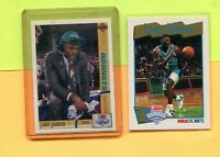 LARRY JOHNSON CHARLOTTE HORNETS 1991-92 UD & HOOPS ROOKIE BASKETBALL CARD LOT