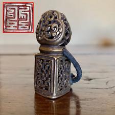 Chinese Antique (Sino) Tibetan Scholars Openwork Bronze Seal