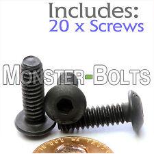 "#10-24 x 5/8"" - Qty 20 - BUTTON HEAD Socket Cap Screws - Alloy Steel Black Oxide"