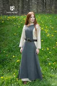 Medieval Surcot Overdress Wool/ Larp - Grey By Burgschneider