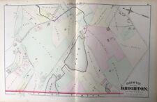 1875 GM HOPKINS SUFFOLK CO. BRIGHTON MA CHANDLER'S POND BOSTON COLLEGE ATLAS MAP