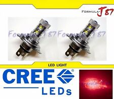 CREE LED 50W HS1 12V Red TWO BULB HEAD LIGHT BIKE ATV SCOOTER LAMP SHOW USE