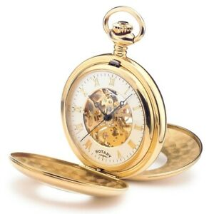 Rotary pocket watch mechanical gold plated MP00713/01 RRP £199