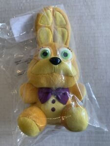 """Funko Five Nights At Freddys Spring Time Bonnie 8"""" Plush Hot Topic FNAF Gold"""