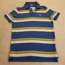 Abercrombie & Fitch Polo Muscle Shirt Mens Sz L Blue Avocado NWT Stripe 1062