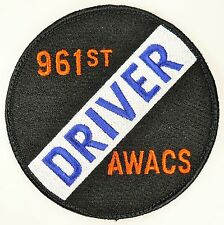 USAF 961st AWACS AIRBORNE WARNING AND CONTROL SQUADRON PATCH