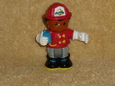 Fisher Price Little People Poseable Fireman Fire Boy Michael Red Helmet #3
