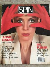 Spin Magazine, August 1985, Anne Lennox Cover