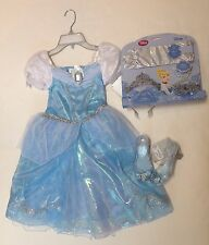 NWT Disney Store S 5-6 Cinderella Musical Costume Deluxe Accessories Shoes 11/12