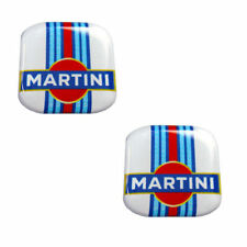 2 Domed Stickers Decals Auto Moto Motorsport Martini Racing Rally Lancia KS 100
