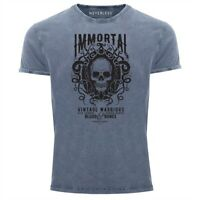 Neverless® Herren T-Shirt Vintage Shirt Printshirt Immortal Skull Vintage