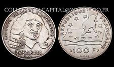 100 Francs RENÉ DESCARTES 1991. Argent