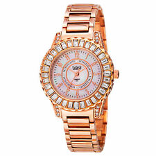 New Women's Burgi BUR095RG Swiss Quartz Diamond MOP Rose-tone Bracelet Watch