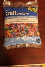 Darice Craft Designers Tri-Bead Transparent. 11mm #0601-21 1180 pieces!