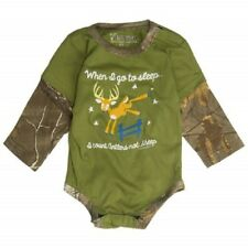 Don't Count Sheep Count Antlers Baby Realtree Camo Bodysuit Snap Shirt