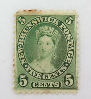 .NEW BRUNSWICK 1860 QV 5c MH STAMP.