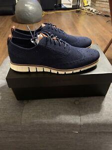 Cole Haan ZeroGrand Stichlite Wingtip Oxford Blue C24947 Men's Size 12 New