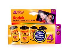 Kodak Gold Bright Sun & Flash 200  35 mm film 4 rolls 24 exposures each roll