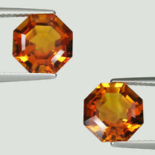 5.91 cts TOP LUSTROUS ORANGE YELLOW NATURAL CITRINE -  See Vdo  #  3353