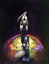 FRANK FRAZETTA Fantasy Art Print THE BRAIN  3.4 1979