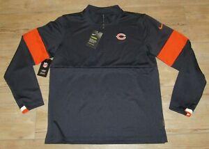 Nike Chicago Bears On-Field Dri-FIT 1/4 Zip Performance Jacket size Men's Medium