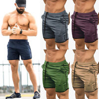 Men's GYM Shorts Training Running Sport Pants Workout Casual Jogging Trousers