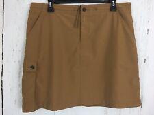 Patagonia Skort Size 10 Brown Womens Hiking Walking Skirt w/ Shorts Outdoors