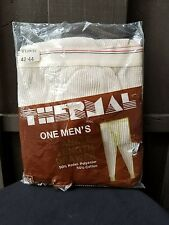 Mens Vintage Thermal Underwear Long Johns Size XL 42-44 In Original Package