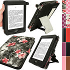 PU Leather SKin Stand Folio Case for Amazon Kindle Paperwhite Cover + Hand Strap