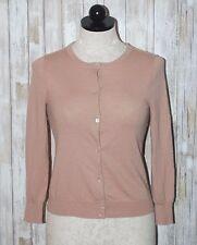 J CREW 100% Cashmere Mauve Cardigan Sweater XS