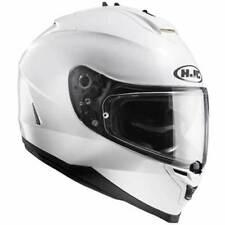 Cascos brillantes HJC color principal blanco para conductores