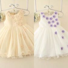 Beautiful Kids Girls Formal Party Wedding Dresses 2 Colors Hight Quality 3Y-9Y