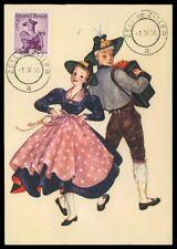 AUSTRIA MK 1956 COSTUMES TRACHTEN MAXIMUMKARTE CARTE MAXIMUM CARD MC CM h0326