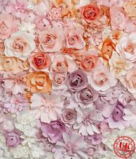 Fleurs en papier Bébé pastel Toile de Fond Fond Vinyle Photo Prop 5X7FT 150x220CM