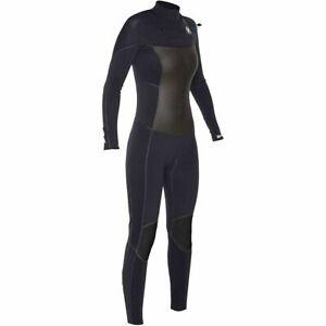 New $400 Women's Hurley Phantom 303 Wetsuit 3mm Full Suit Black Size 6