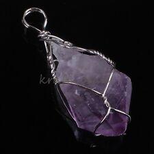 Natural Random Druzy Amethyst Quartz Crystal Stone Winding Stone Pendant Jewelry