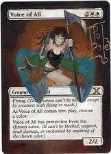MTG Voice of All painted altered by Laura  Signed by Original Artist