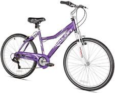 "26"" Women's Comfort Bike Full Suspension 7-Speed Purple Steel Frame Cruiser NEW"