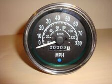 Speedometer Gauge for Willys MB Jeep Ford CJ GPW Black Dial Chrome Bezel